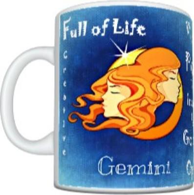 CreativesKart Zodiac Gemini (F) Ceramic Mug