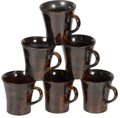 Inhomez Golden Metallic Stoneware Tea/Coffee Ceramic Mug