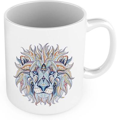 Kiran Udyog Unique Designer Lion Print Delightful Coffee  557 Ceramic Mug