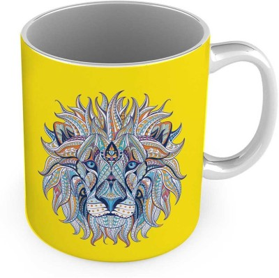 Kiran Udyog Exclusive Lion Design Print Delightful Coffee  558 Ceramic Mug