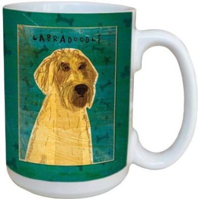 Tree-Free Greetings Greetings sg44051 Yellow Labradoodle by John W. Golden Ceramic  with Full-Sized Handle, 15-Ounce Ceramic Mug