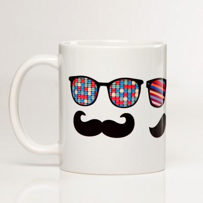 LetterNote Moustache Ceramic Mug