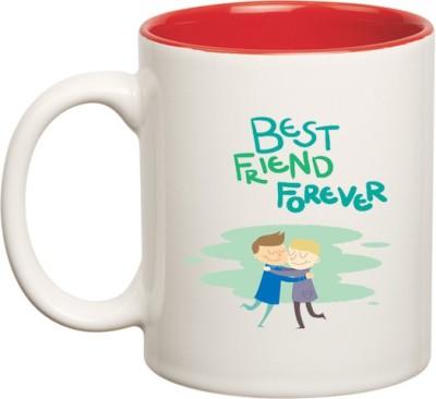 Huppme BFF Best Friend Forever Inner Red  Ceramic Mug