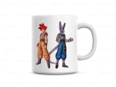 Huppme Dragon Ball & Battle Of God  Ceramic Mug