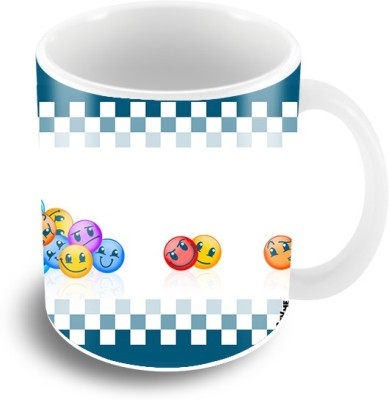 Thecrazyme Colored Emoticons Coffee Ceramic Mug