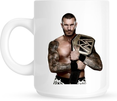 Huppme Gifts Randy Orton With Wwe Belt White  Ceramic Mug