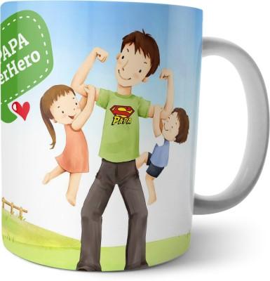 Chiraiyaa Happy Fathers Day - My papa Super Hero Ceramic Mug