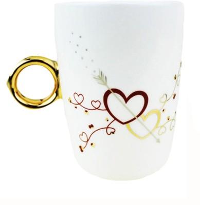 BonZeal Couple Ring Cup Ceramic Mug