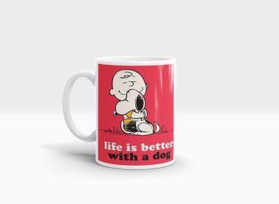 Hainaworld Life is Better With a Dog Coffee  Ceramic Mug