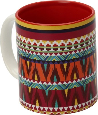 The Elephant Company Tribal Symmetry Coffee  Ceramic Mug