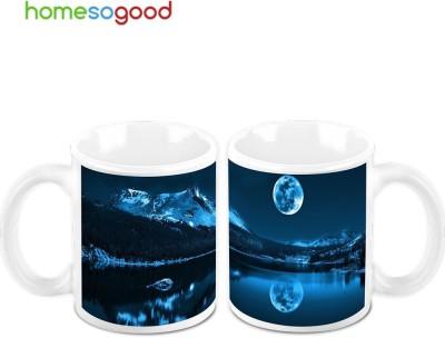 HomeSoGood Shadow Of The Moon (Pack Of 2) Ceramic Mug