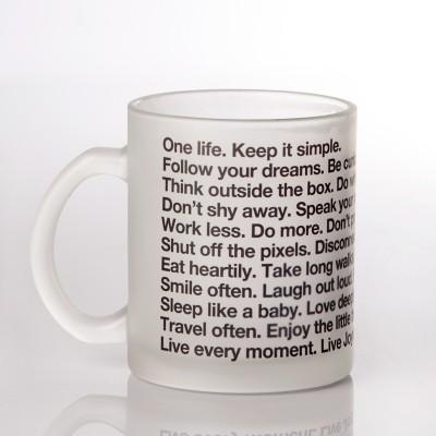 LetterNote The LetterNote Manifesto Frosted Ceramic Mug