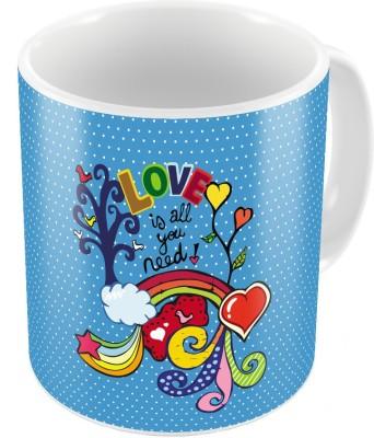 Indiangiftemporium Designer Romantic Printed Coffee  Pair 440 Ceramic Mug