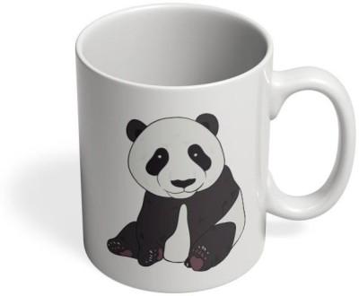 PosterGuy Downhill Panda Black Panda, Cute, Hug, Minimal, Notion ink, Love, Adorable, Girl, Black, White, Green, China, Innocent, Down, Hill, Rolling, Deep, Black, White Ceramic Mug