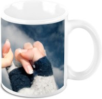 HomeSoGood Best Friends Together Ceramic Mug(325 ml)