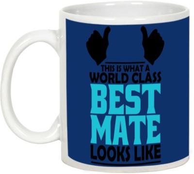 AllUPrints Friendship Day Gifts - World Class Best Mate Ceramic Mug