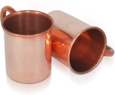 Dungri India Craft Set of 2, Pure copper hammered 70 ML / 2.3 oz SHOT Moscow Mule Vodka  Copper Mug