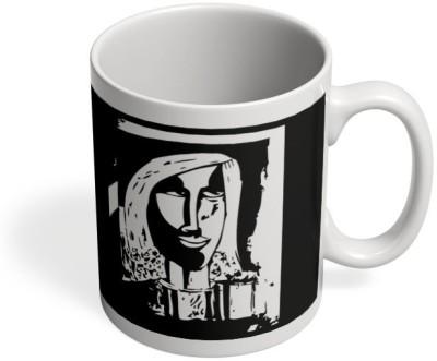 PosterGuy Stay Happy Painting Art, Sketch,Painitng, Portrait, Illustration Ceramic Mug