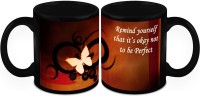 HomeSoGood Motivational Quotes ( QTY 2 ) Ceramic Mug(325 ml, Pack of 2)
