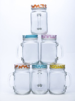 Satyam Kraft Mason Jars Glass Mug