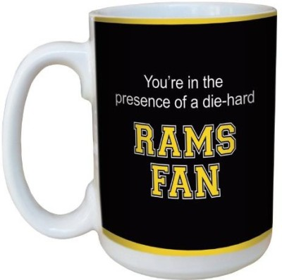 Tree-Free Greetings Greetings lm44943 Rams College Basketball Ceramic  with Full-Sized Handle, 15-Ounce Ceramic Mug