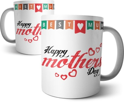 Chiraiyaa Happy Mothers Day - Best Mum Ceramic Mug(300 ml) at flipkart