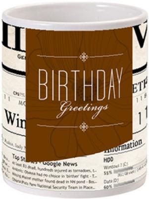 Allthingscustomized Birthday Greetings Gift  Ceramic Mug