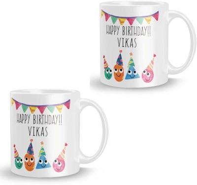 posterchacha Vikas Personalised Custom Name Happy Birthday Gift Tea And Coffee  For Gift Use Ceramic Mug