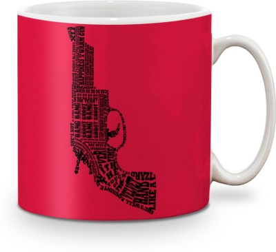 Be Awara Pistol Typo Ceramic Mug(325 ml)