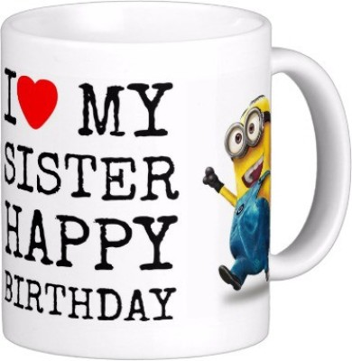Exoctic Silver Happy Birthday Sister Hbd009 Ceramic Mug