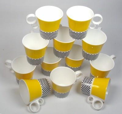 Clay Craft CP/Hilton Yellow  Bone China Mug