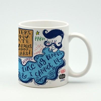 Alicia Souza Beard love Porcelain Mug