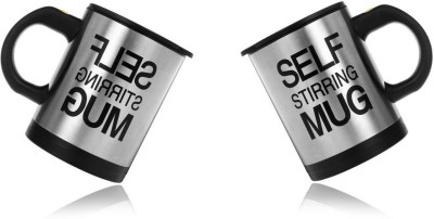 eDeal Super Self Stirring Stainless Steel, Plastic Mug