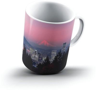 Ucard Mount Hood Portland Oregon2516 Bone China, Ceramic, Porcelain Mug