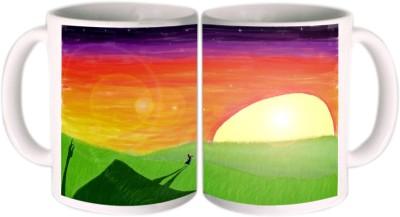 Shopkeeda Rising Sun Ceramic Mug