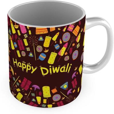 Home India Decorative Design Print Brown Delightful Cofee  586 Ceramic Mug