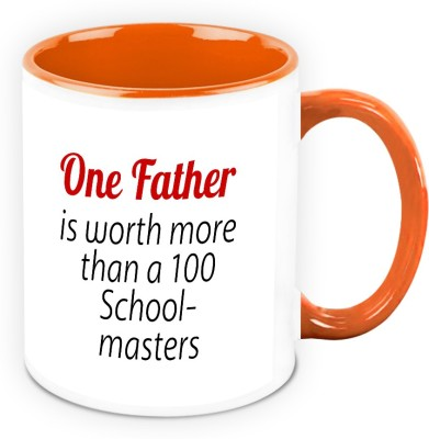 HomeSoGood One Father Is Worth More Than a 100 School Masters Ceramic Mug