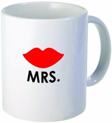 Rikki Knight LLC Knight Mrs. Lips Funny11 oz Ceramic Coffee Cup Ceramic Mug(60 ml) at flipkart