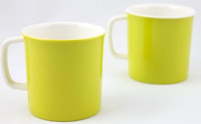 Hi Luxe Dbl Clr Melamine 42248 Dual -Green Melamine Mug