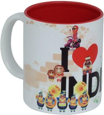 Imagica Coffee I Love India Ceramic Mug
