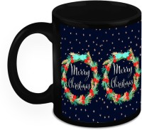 Muggies Magic Design for best Christmas Gifts Home So Good Christmas Garland Black for Cool & Classics 11 Oz Ceramic Mug(325 ml) best price on Flipkart @ Rs. 549