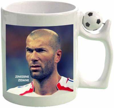 Huppme Zinedine Zidane Football  Ceramic Mug