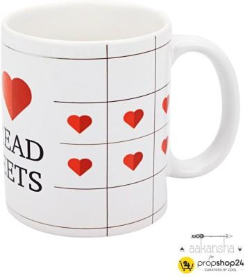 PropShop24 SPREAD SHEETS Ceramic Mug