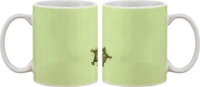 Artifa Dancing Monster Porcelain, Ceramic Mug