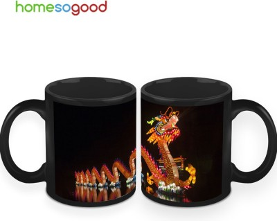 HomeSoGood The Chinese Dragon Coffee Ceramic Mug