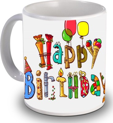 Print Helllo Happy Birthday R182 Ceramic Mug