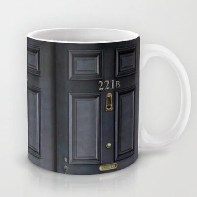 Astrode Classic Old Sherlock Holmes 221b Door Ceramic Mug