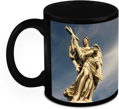 HomeSoGood Statue Of Bernini's Angels Ceramic Mug