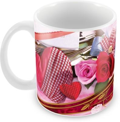 Fashion Envoy I Love You Pink Valentine  Ceramic Mug