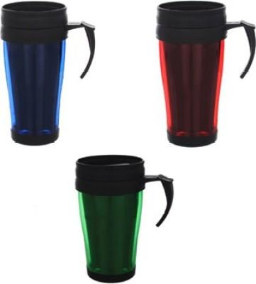 Goldendays Durable Plastic Cups with cap Plastic Mug
